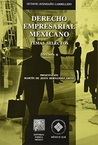 9786070914812: DERECHO EMPRESARIAL MEXICANO. TEMAS SELECTOS / VOL. 2