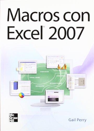 9786071502377: Macros Con Excel 2007 (Spanish Edition)