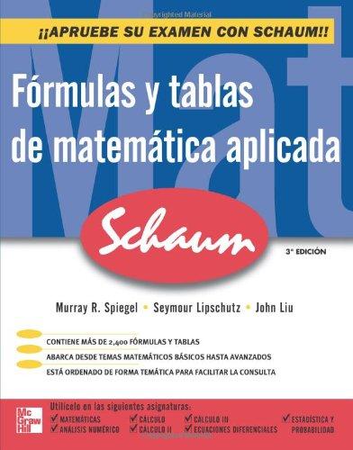 9786071502629: Fórmulas y tablas de Matemática aplicada