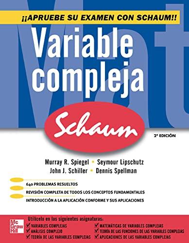 9786071505514: Variable Compleja Serie Schaum