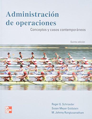 Administracion de Operaciones: Conceptos y Casos Contemporaneos: SCHROEDER