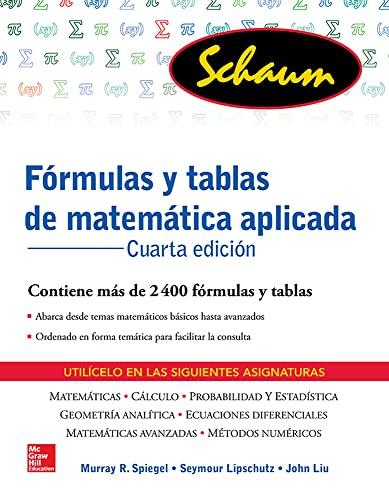 9786071511454: FORMULAS Y TABLAS DE MATEMATICA APLICADA (Schaum)