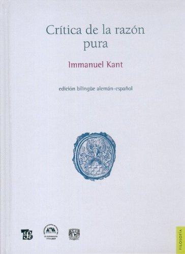 9786071601193: Crítica de la razón pura (Filosofia) (Spanish and German Edition)