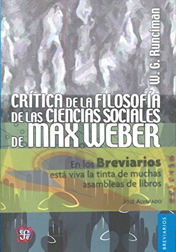 Critica filosofia ciencias sociales: Runciman, W.G.