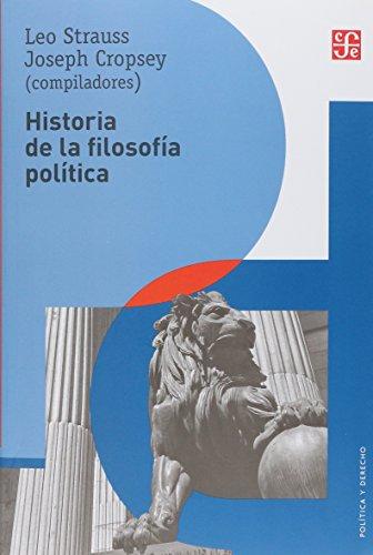 Historia de la filosofía política: Cropsey, Leo Strauss/Joseph