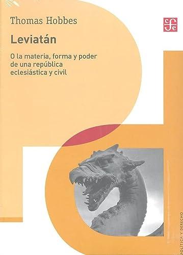 Leviatán. O la materia, forma y poder: Hobbes, Thomas