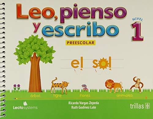 9786071716132: Leo, pienso y escribo / Read, think and write: Nivel 1 De Preescolar / Preschool Level 1 (Spanish Edition)
