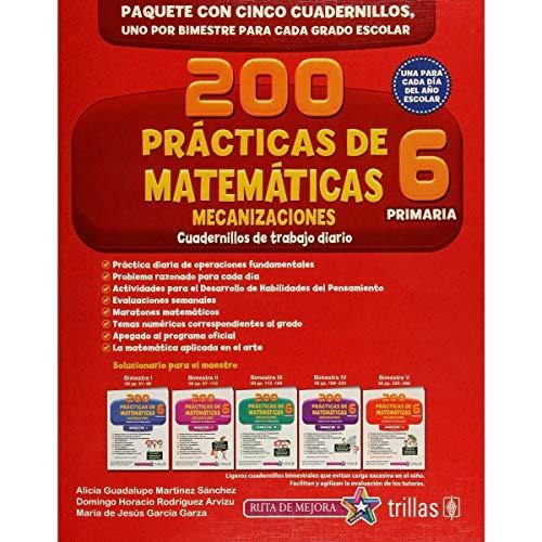 9786071723451: 200 PRACTICAS DE MATEMATICAS 6, PRIMARIA: MECANIZACIONES