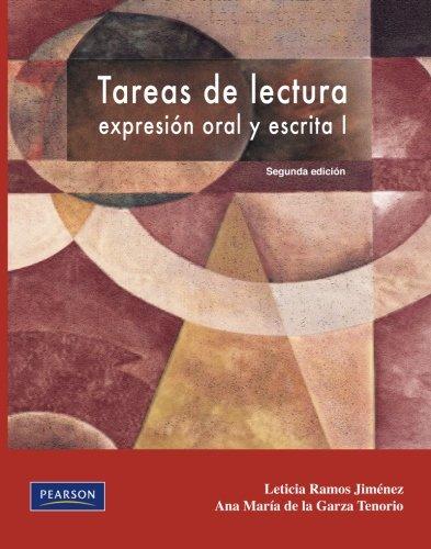 9786073202343: Tareas de lectura, expresión oral y escrita I. Segunda edición (Spanish Edition)