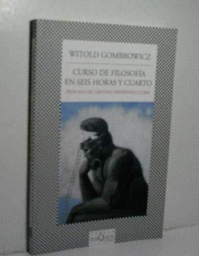 9786074210613: Curso de filosofia en seis horas y cuarto (Spanish Edition)