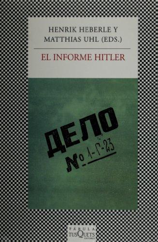 9786074214161: El informe Hitler (Spanish Edition)