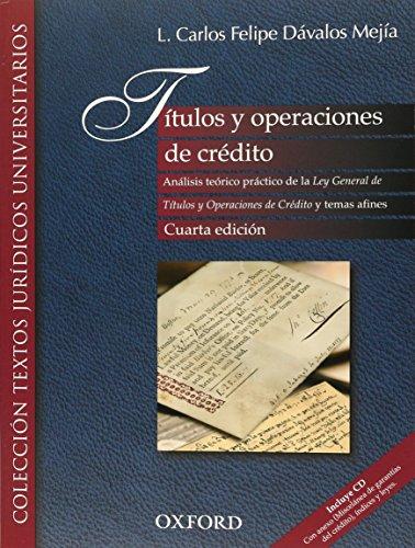 9786074262025: TITULOS Y OPERACIONES DE CREDITO