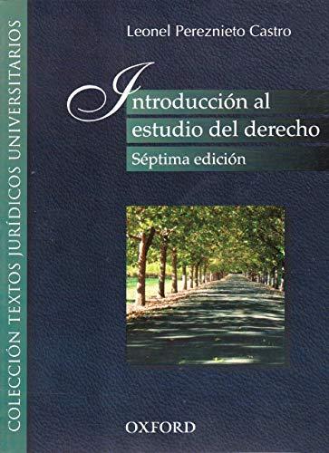 9786074262155: INTRODUCCION AL ESTUDIO DEL DERECHO