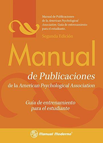 9786074480566: Manual de Publicaciones de la APA: Gui-a de Entrenamiento Para el Estudiante
