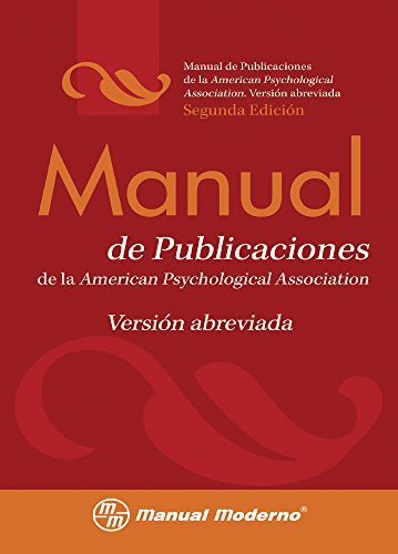 9786074480597: Manual de Publicaciones de la American Psychological Association / Concise Rules of APA Style (Spanish Edition)