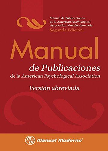 9786074480597: Manual de publicaciones de la APA. Version abreviada