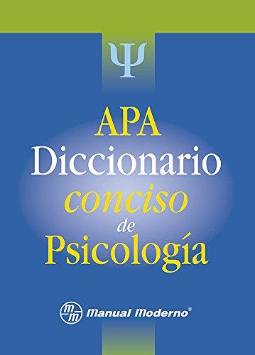 9786074480603: APA Diccionario conciso de Psicología 1a.ed
