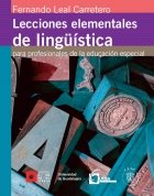 9786074501278: Lecciones elementales de lingüística Para profesionales de la educación especial.