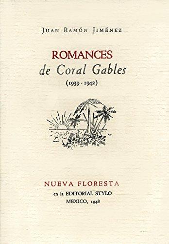 Romances de Coral Gables (1939-1942) [Paperback] by