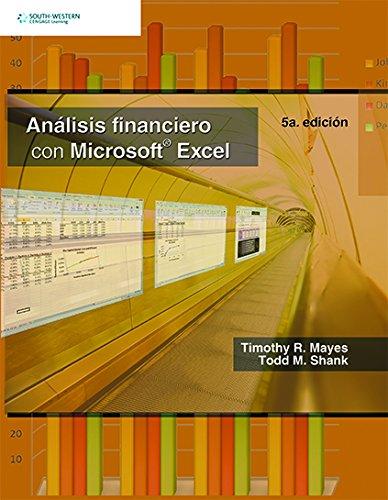 9786074811575: Analisis Financiero con Microsoft Excel (Spanish Edition)