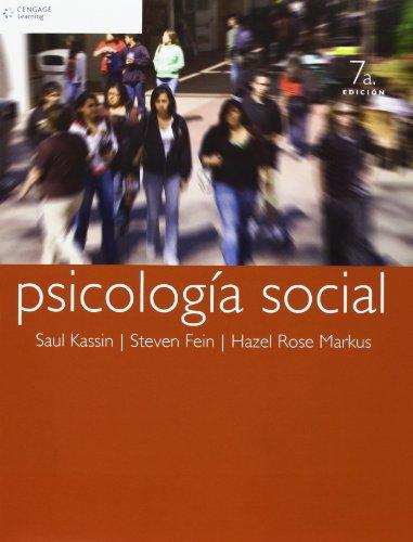 Psicologia Social (Spanish Edition) by Kassin, Saul M.: Saul M. Kassin