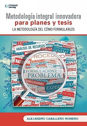 9786075190815: Metodología Integral innovadora para planes y tesis