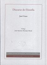 Discurso de filosofía: José, Gaos