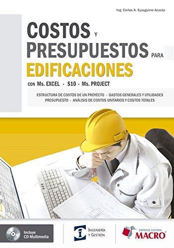 9786124034732: COSTOS Y PRESUPUESTOS PARA EDIFICACIONES (INCLUYE CD)