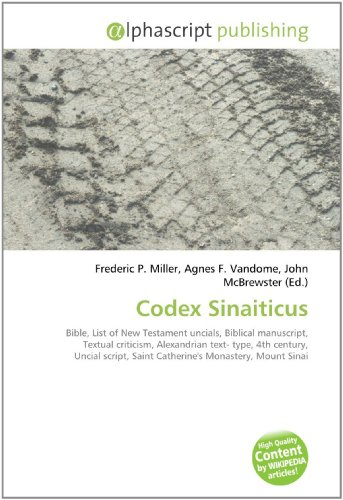 9786130210830: Codex Sinaiticus
