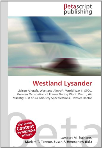 Westland Lysander: Lambert M. Surhone
