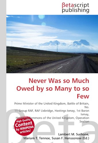 Never Was so Much Owed by so: Lambert M. Surhone