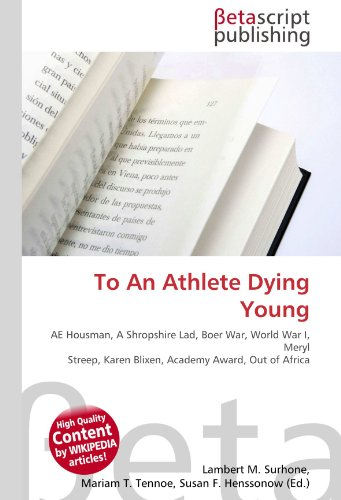9786130524135: To an Athlete Dying Young