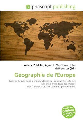 9786130805630: Géographie de l'Europe (French Edition)