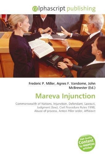 Mareva Injunction: Frederic P. Miller