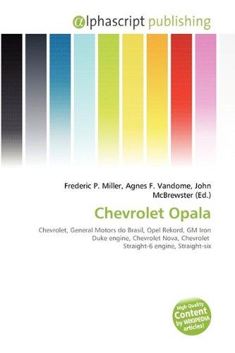 9786130889005: Chevrolet Opala