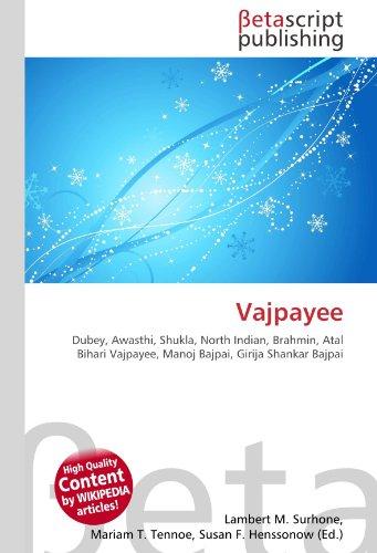 9786130893132: Vajpayee