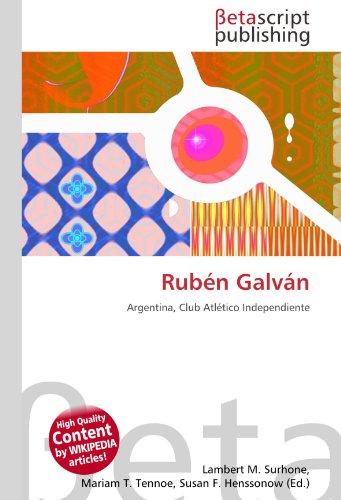 9786130899257: Rubén Galván
