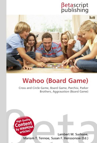 9786131048500: Wahoo (Board Game): Cross and Circle Game, Board Game, Parchisi, Parker Brothers, Aggravation (Board Game)