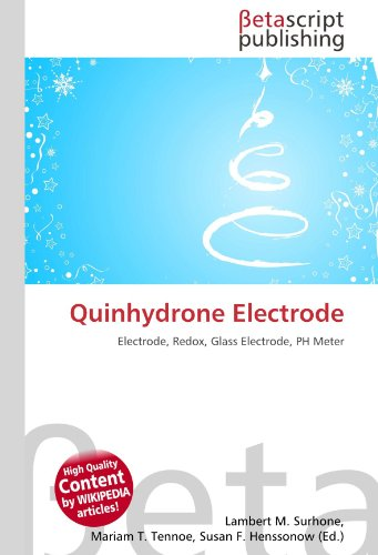 9786131053191: Quinhydrone Electrode: Electrode, Redox, Glass Electrode, PH Meter