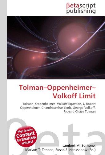 9786131070167: Tolman-Oppenheimer-Volkoff Limit