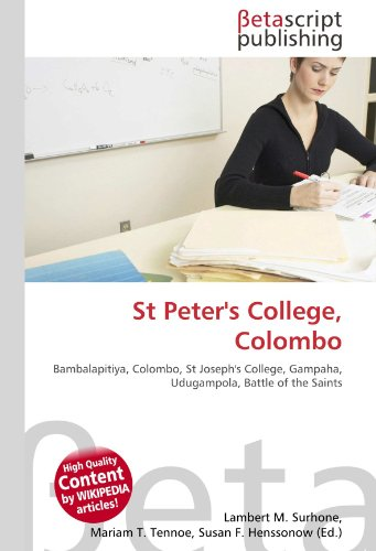 9786131137716: St Peter's College, Colombo