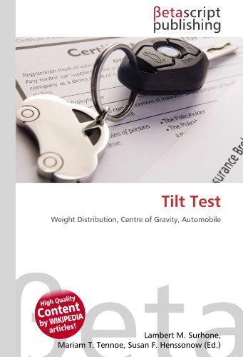9786131165825: Tilt Test: Weight Distribution, Centre of Gravity, Automobile