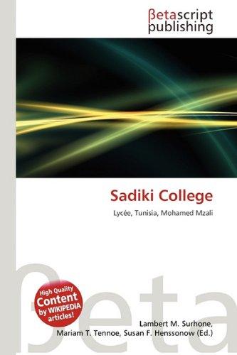 9786131282430: Sadiki College