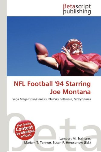 9786131300530: NFL Football '94 Starring Joe Montana