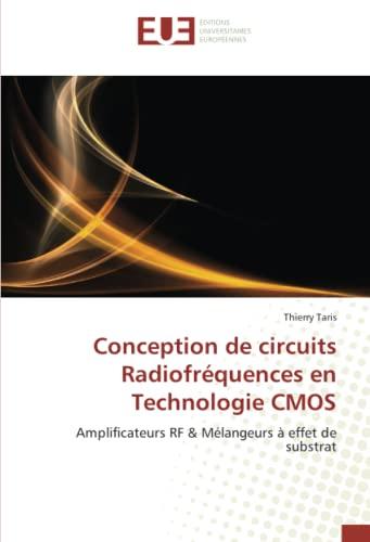 9786131500800: Conception de circuits radiofréquences en technologie cmos (OMN.UNIV.EUROP.)