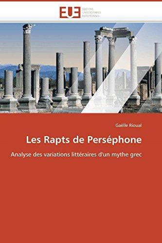 Les Rapts de Persephone (Paperback): Rioual-G