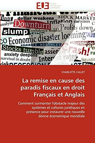 La Remise En Cause Des Paradis Fiscaux En Droit Francais Et Anglais: CHARLOTTE CALLET