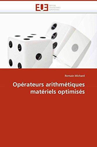 9786131508325: Opérateurs arithmétiques matériels optimisés