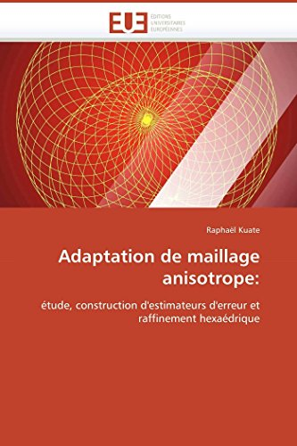 9786131509940: Adaptation de maillage anisotrope:: étude, construction d'estimateurs d'erreur et raffinement hexaédrique (Omn.Univ.Europ.) (French Edition)