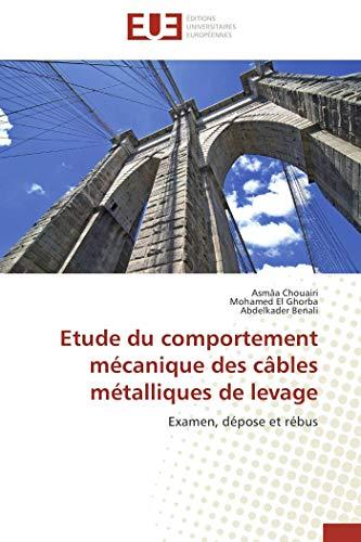 9786131516993: Etude du comportement mécanique des câbles métalliques de levage: Examen, dépose et rébus (French Edition)